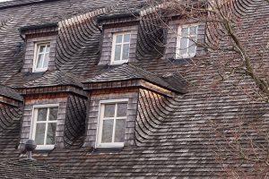 Example of asphalt shingle roof